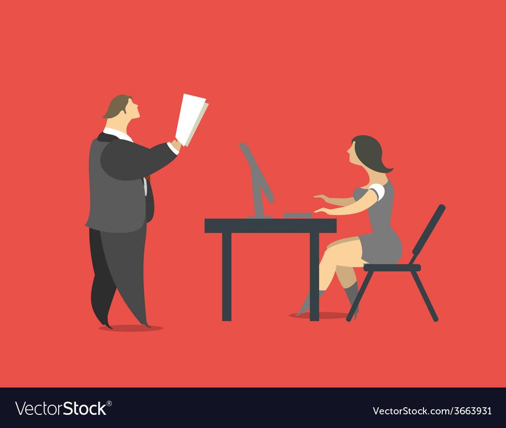 Head and secretary vector | Price: 1 Credit (USD $1)