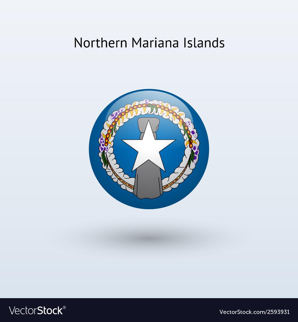 Northern mariana islands round flag vector   Price: 1 Credit (USD $1)