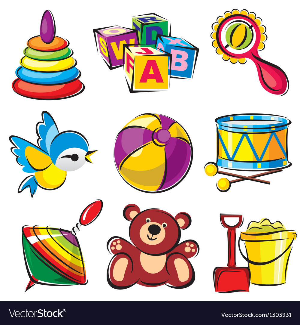 Set toys vector | Price: 1 Credit (USD $1)