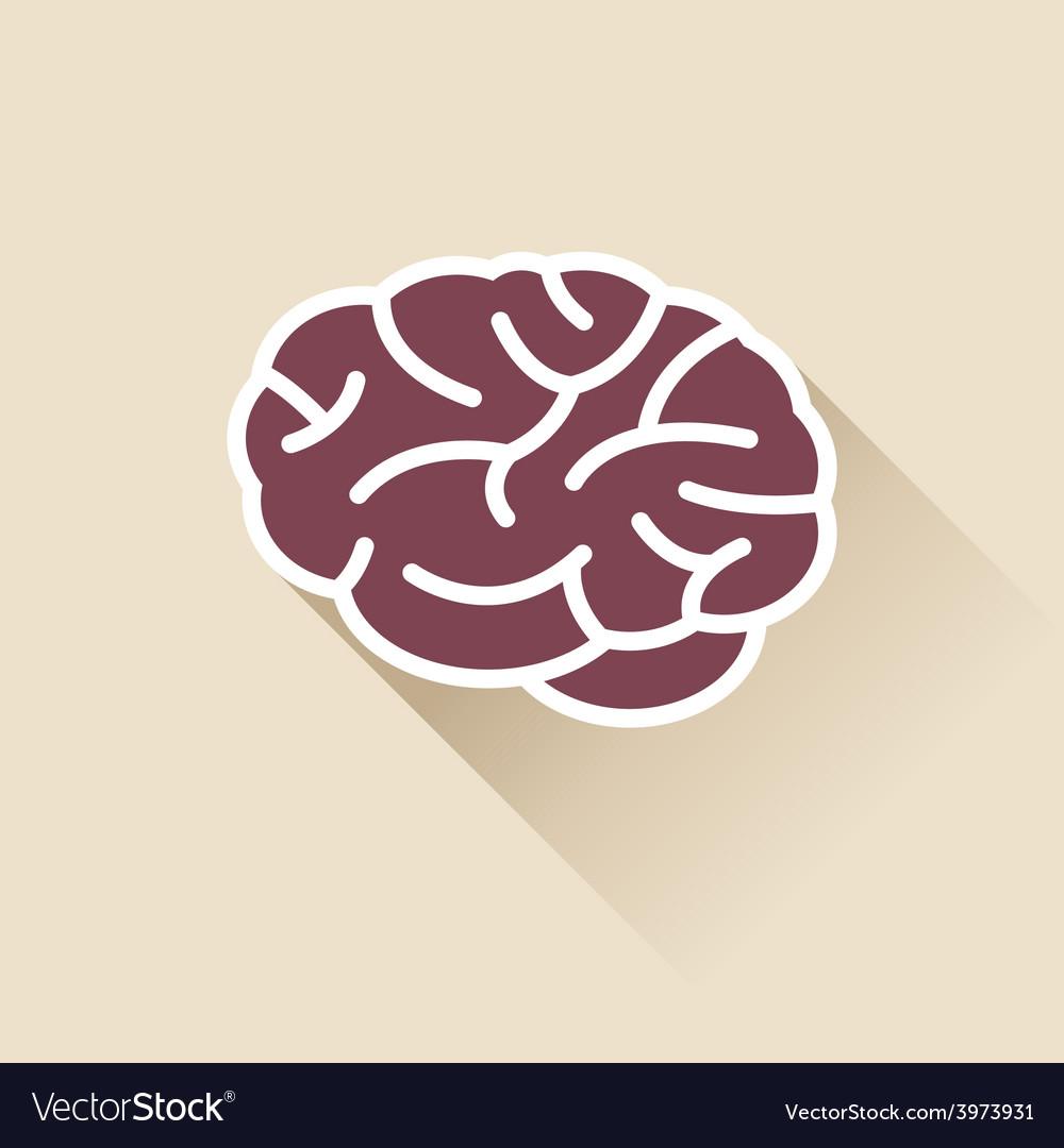 Simple brain icon vector | Price: 1 Credit (USD $1)