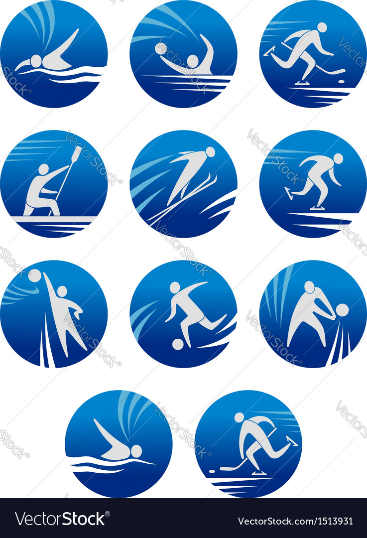 Sport icons vector | Price: 1 Credit (USD $1)