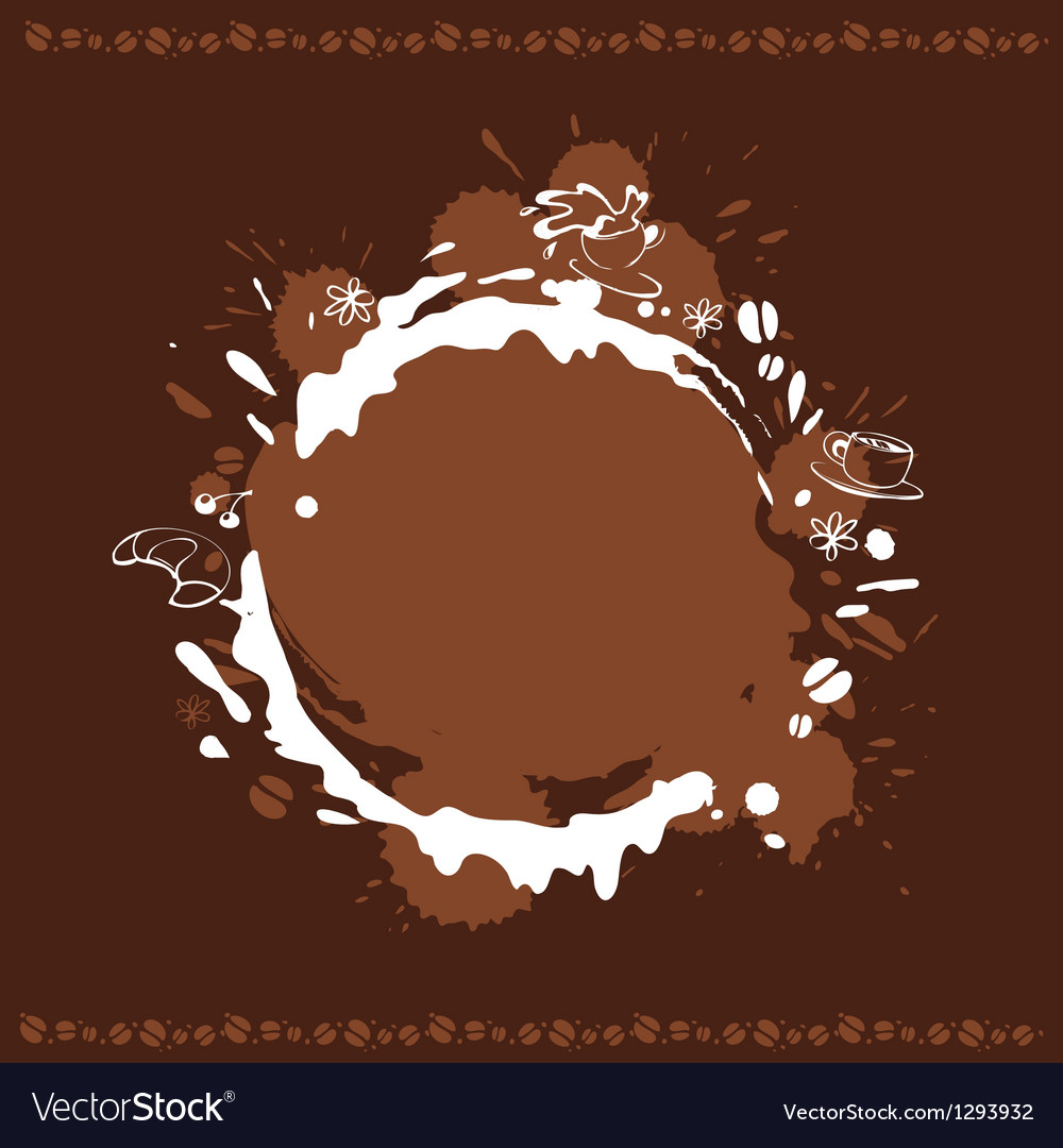 Abstract background with cup beans and coffee stai vector | Price: 1 Credit (USD $1)