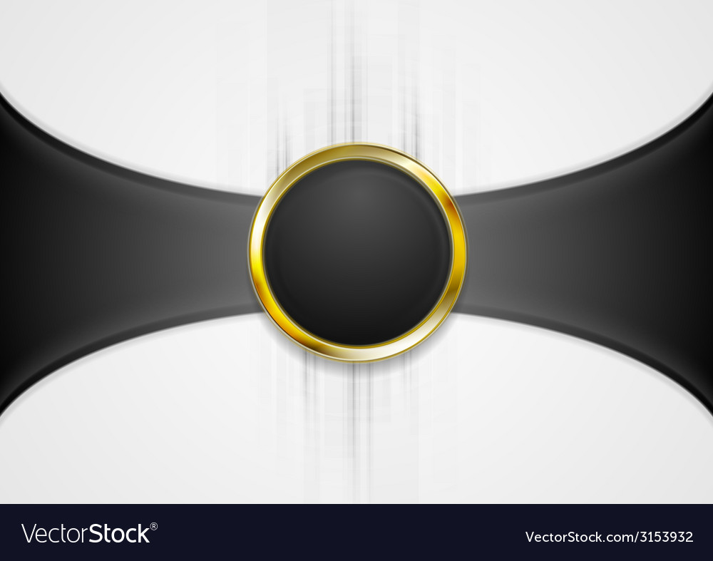 Abstract background with golden circle shape vector | Price: 1 Credit (USD $1)