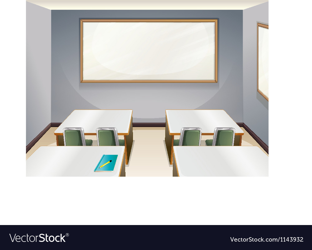 An empty classroom vector | Price: 1 Credit (USD $1)