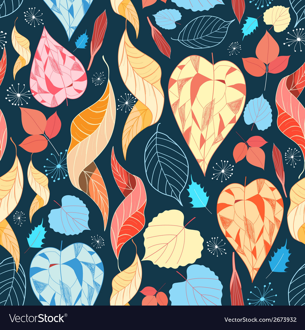 Colorful autumn leaves pattern vector | Price: 1 Credit (USD $1)