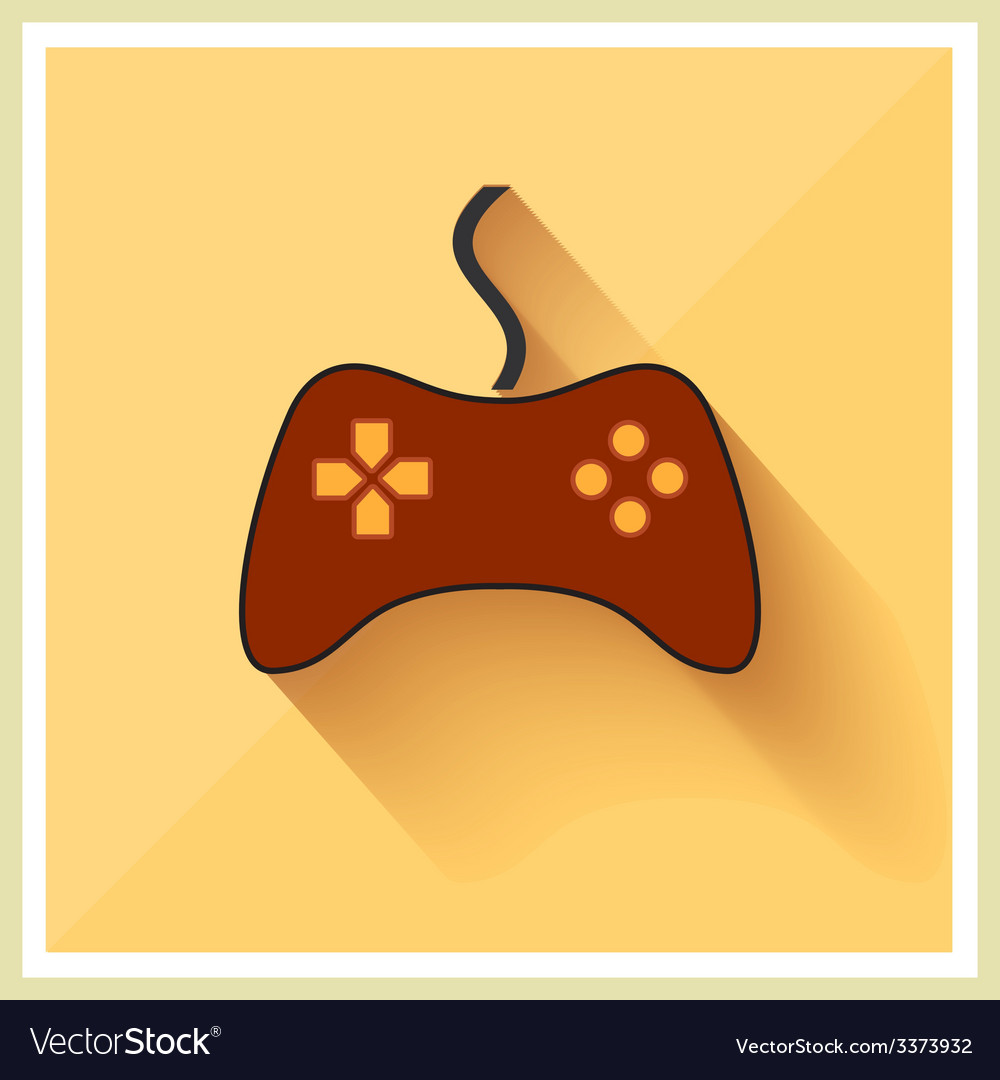 Computer video game controller joystick flat icon vector | Price: 1 Credit (USD $1)