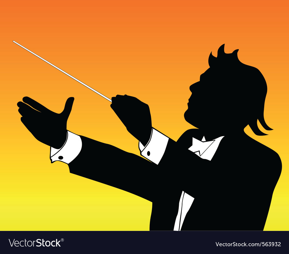 Conductor silhouette vector | Price: 1 Credit (USD $1)
