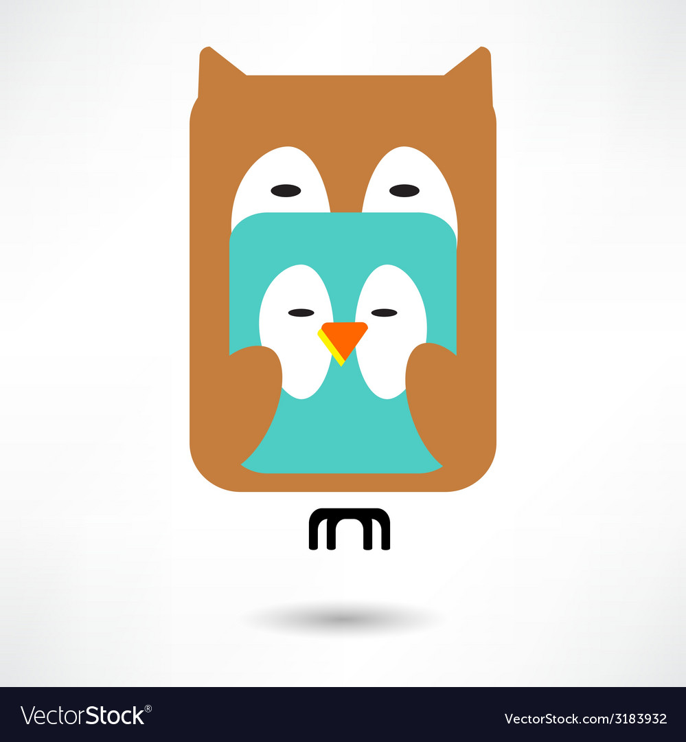 Couples of owls and birds autumn vector | Price: 1 Credit (USD $1)
