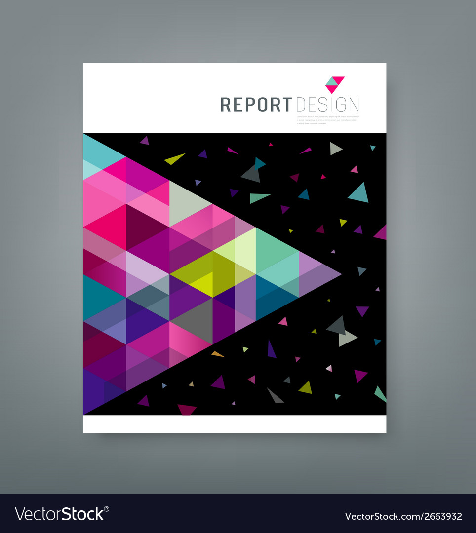 Cover report abstract triangle geometry colorful vector | Price: 1 Credit (USD $1)