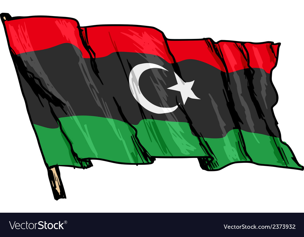 Flag of libya vector | Price: 1 Credit (USD $1)