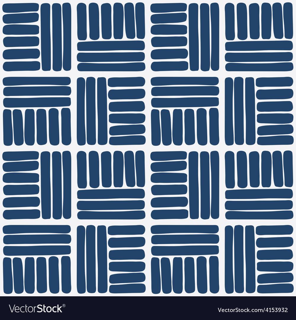 Hand drawn seamless indigo pattern vector | Price: 1 Credit (USD $1)