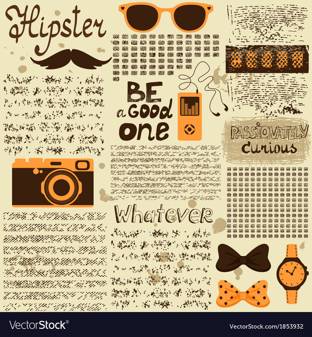 Hipster seamless vintage newspaper vector | Price: 1 Credit (USD $1)