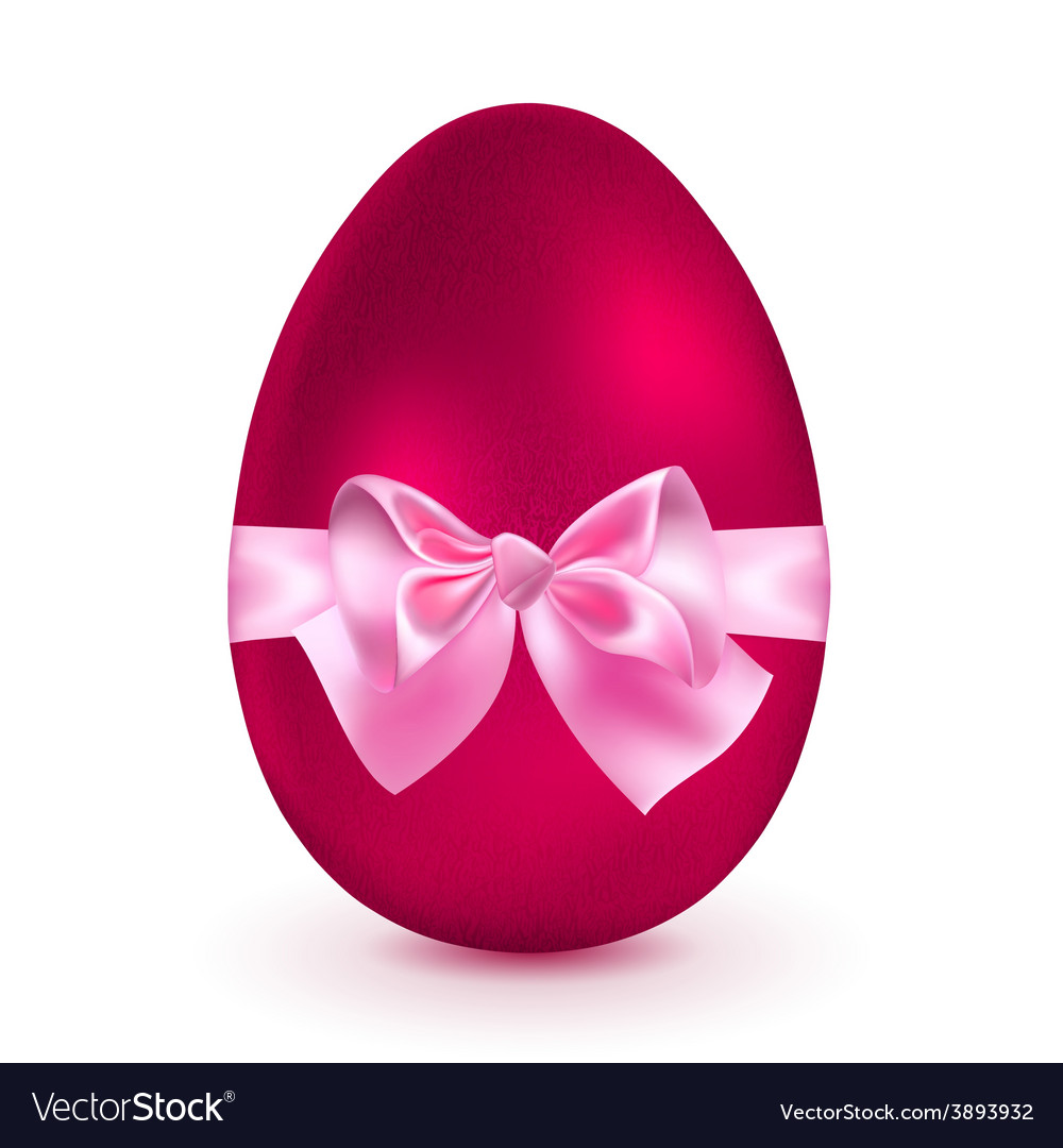 Red egg with pink bow vector | Price: 1 Credit (USD $1)