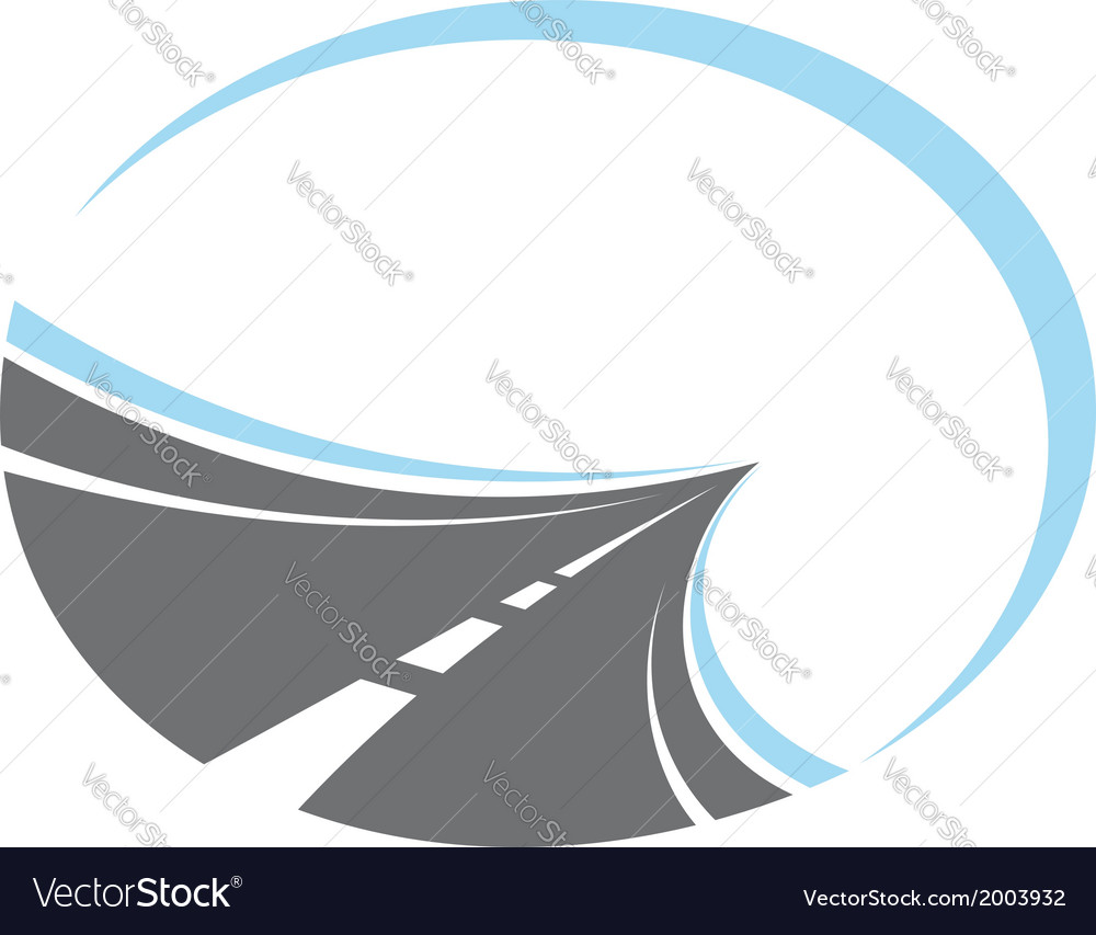 Tarred road disappearing to infinity vector | Price: 1 Credit (USD $1)