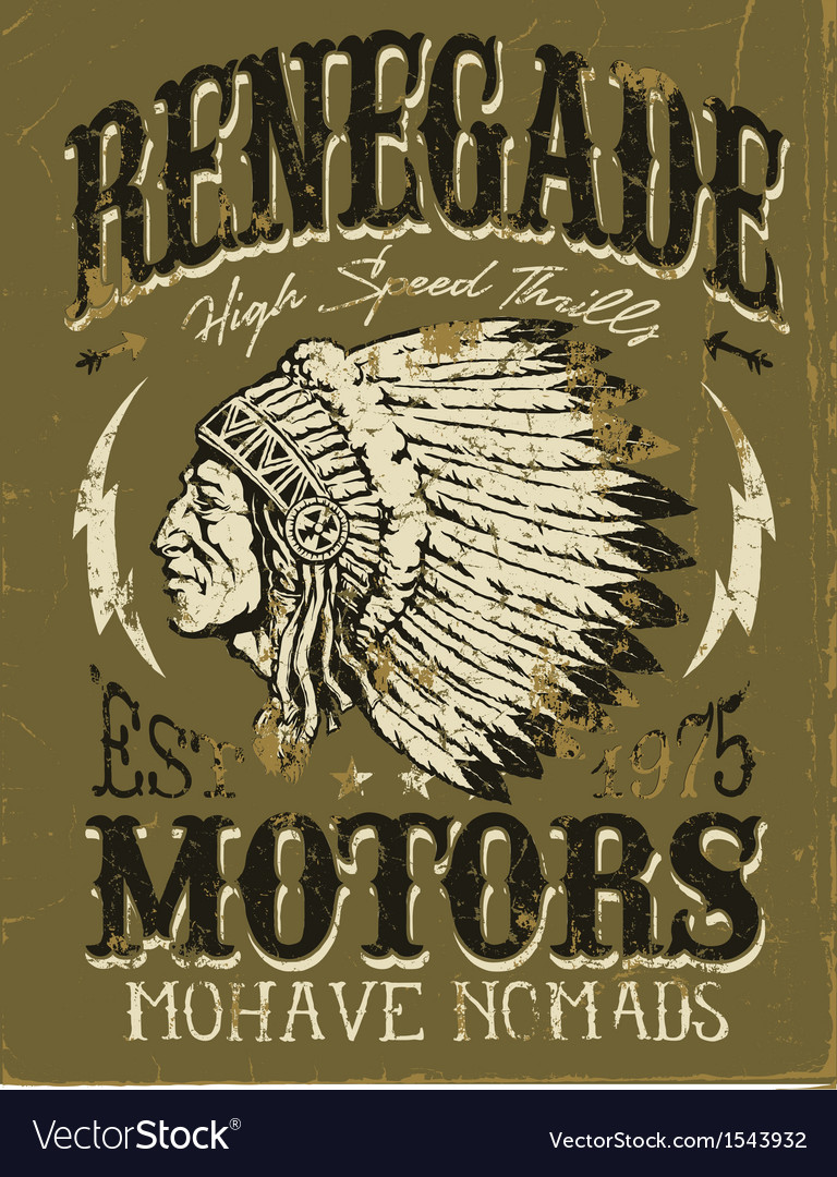 Vintage americana motorcycle apparel design vector | Price: 1 Credit (USD $1)