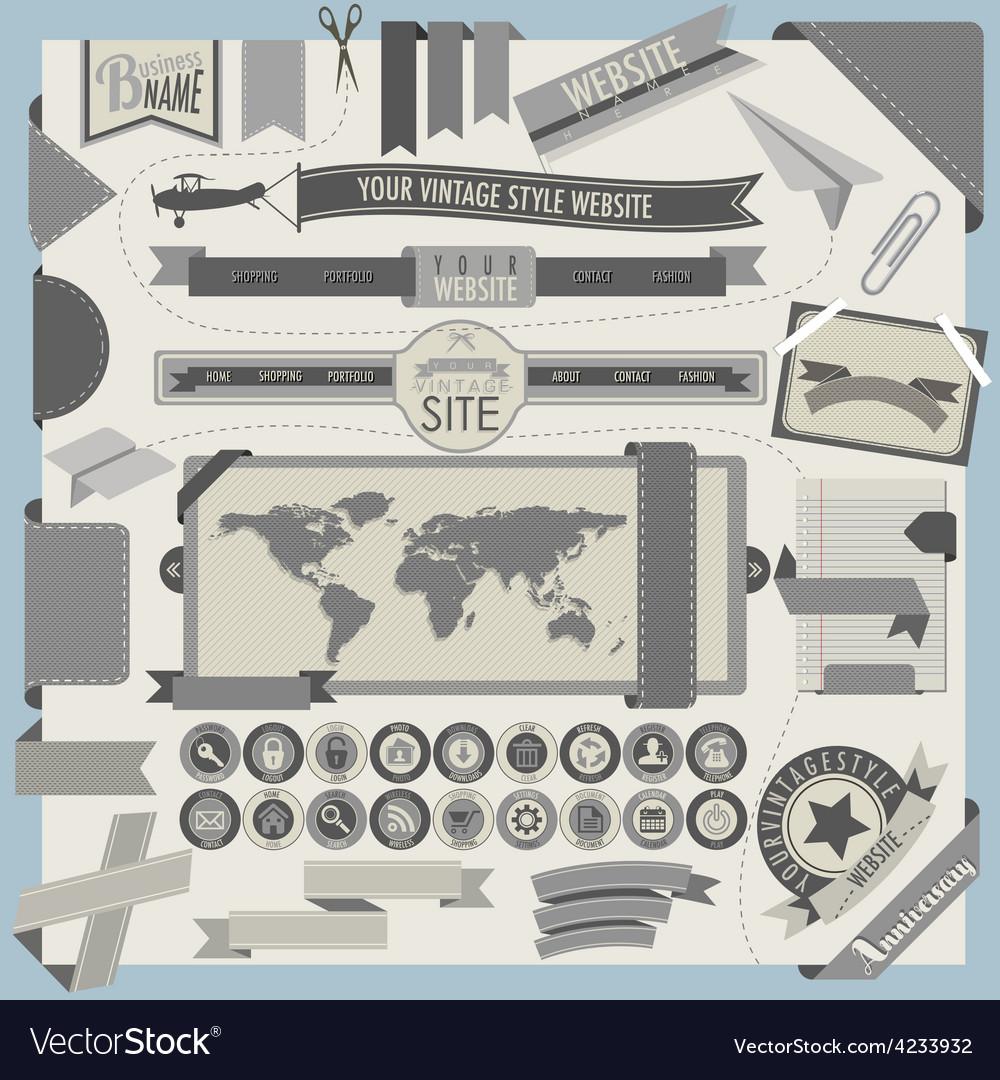Website headers and navigation elements vector   Price: 1 Credit (USD $1)
