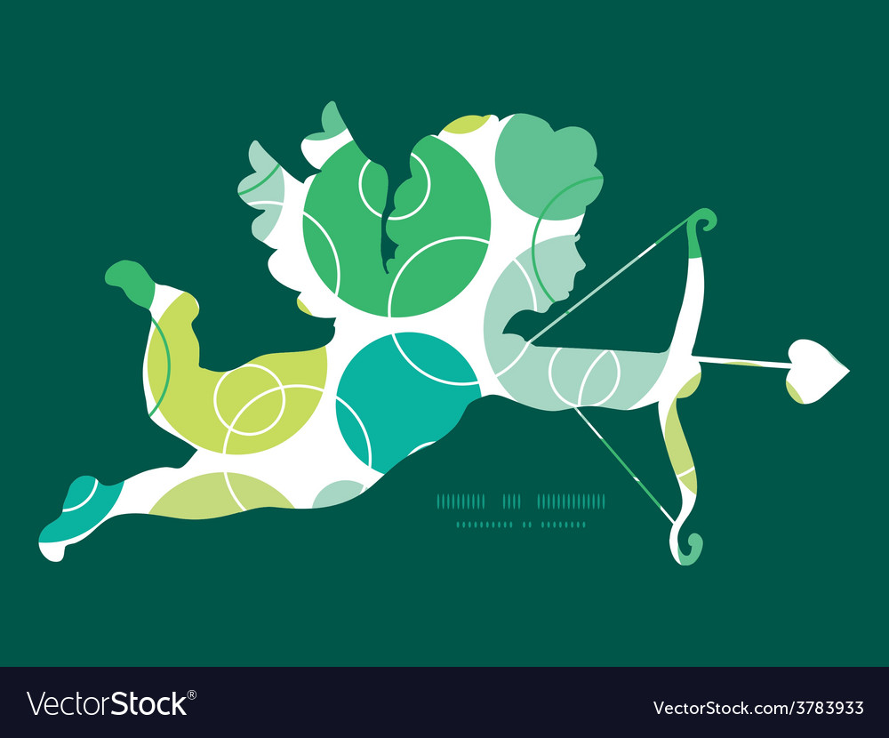Abstract green circles shooting cupid vector   Price: 1 Credit (USD $1)