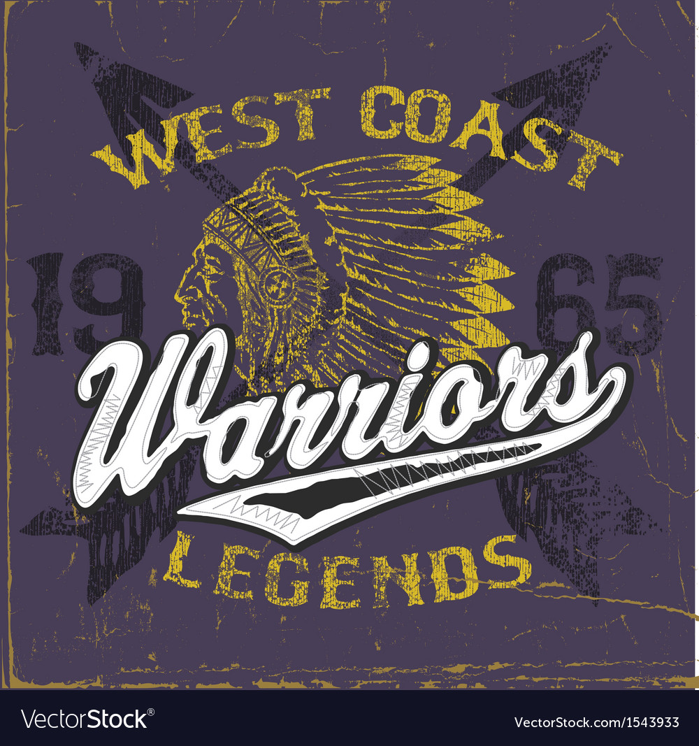 Athletic style warriors apparel design vector | Price: 1 Credit (USD $1)