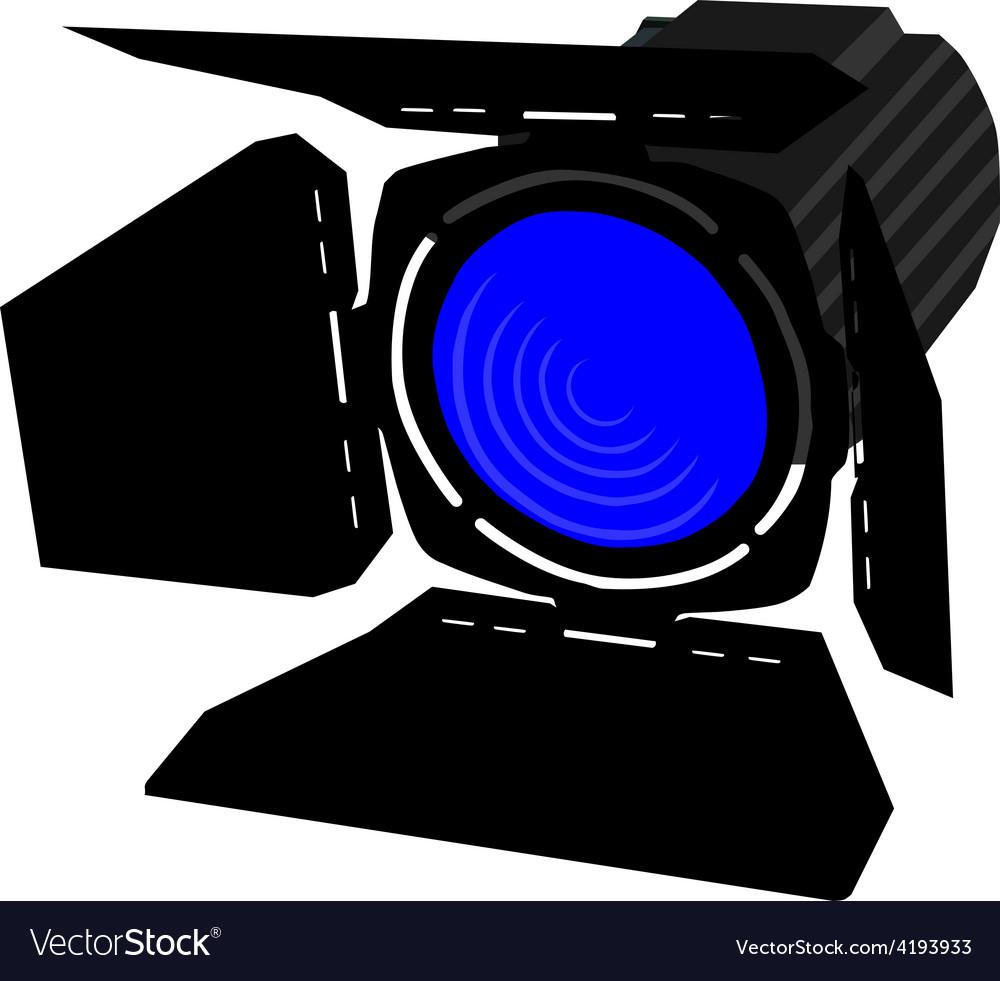 Blue spotlight vector | Price: 1 Credit (USD $1)
