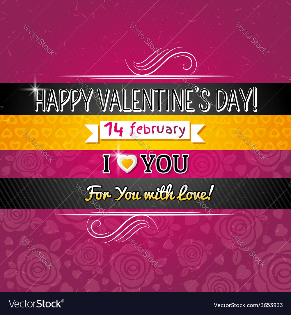 Color background with valentine heart vector | Price: 1 Credit (USD $1)