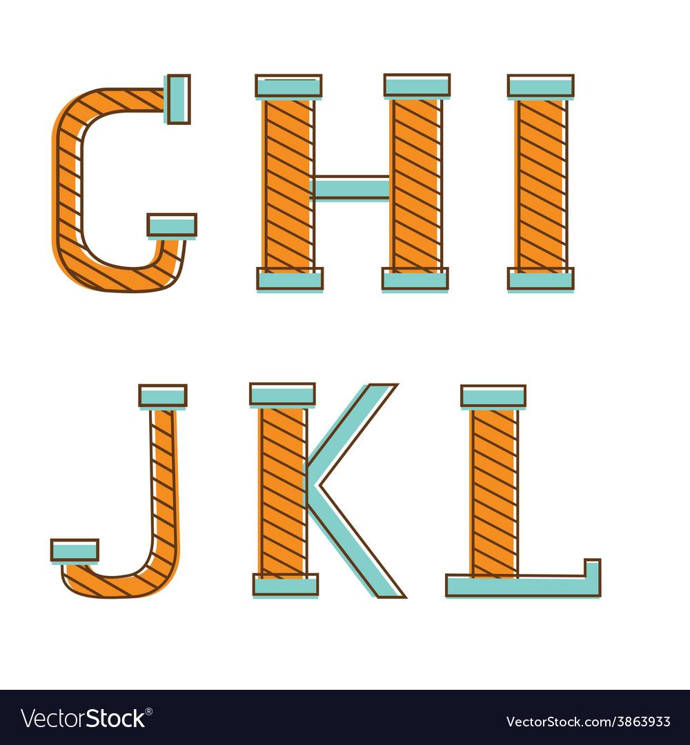 Colorful alphabet letters gh i j k l vector | Price: 1 Credit (USD $1)