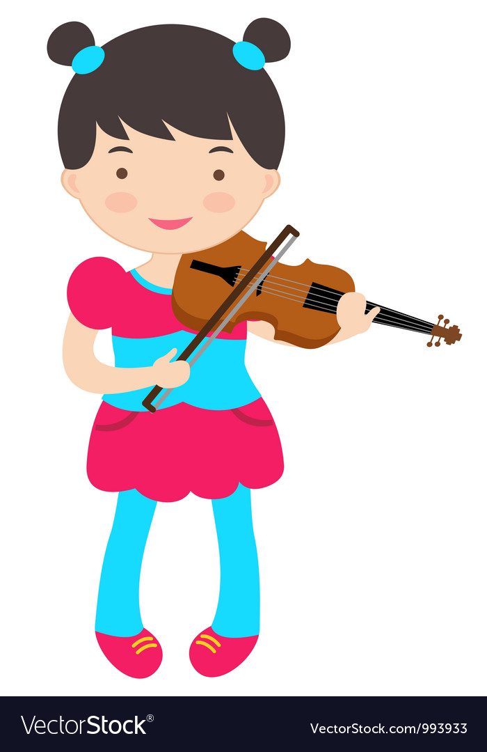 Cute violinist vector | Price: 3 Credit (USD $3)