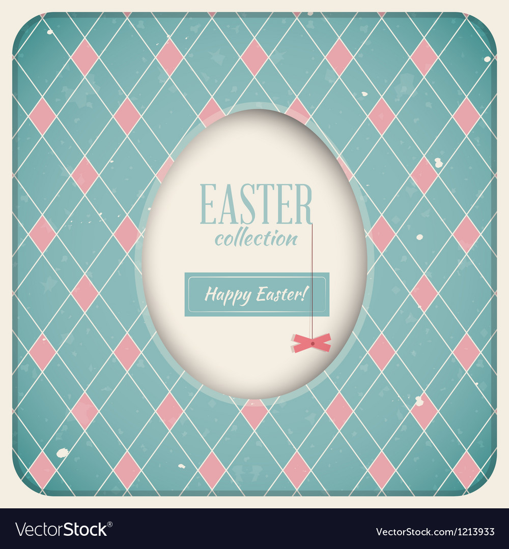 Easter retro card vector | Price: 3 Credit (USD $3)