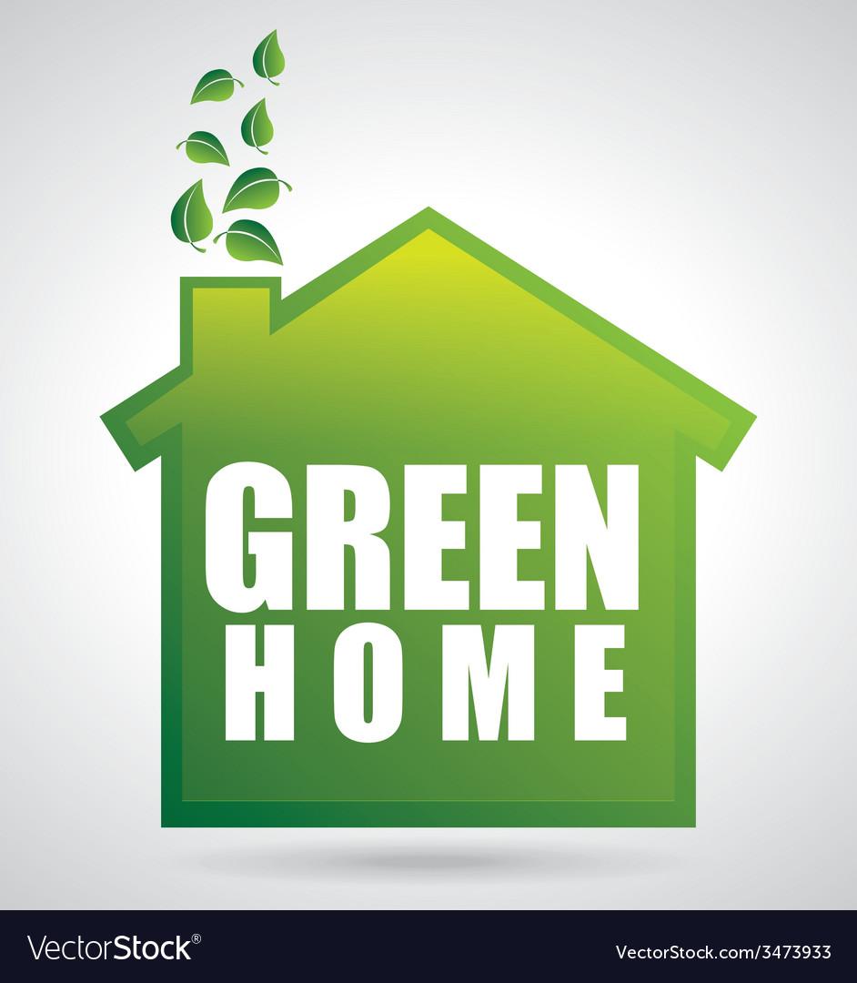 Eco house design vector | Price: 1 Credit (USD $1)