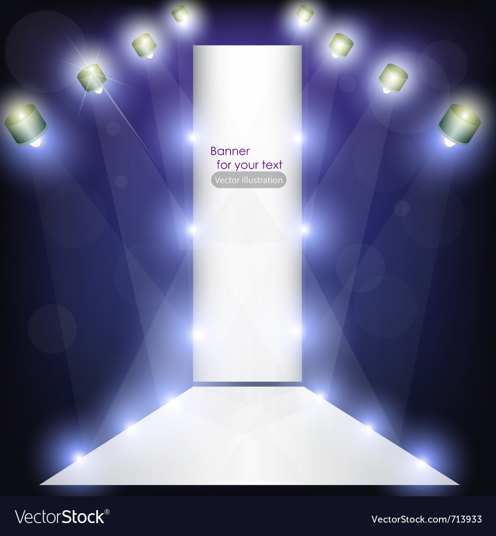 Empty podium for product advertising with lighting vector | Price: 1 Credit (USD $1)