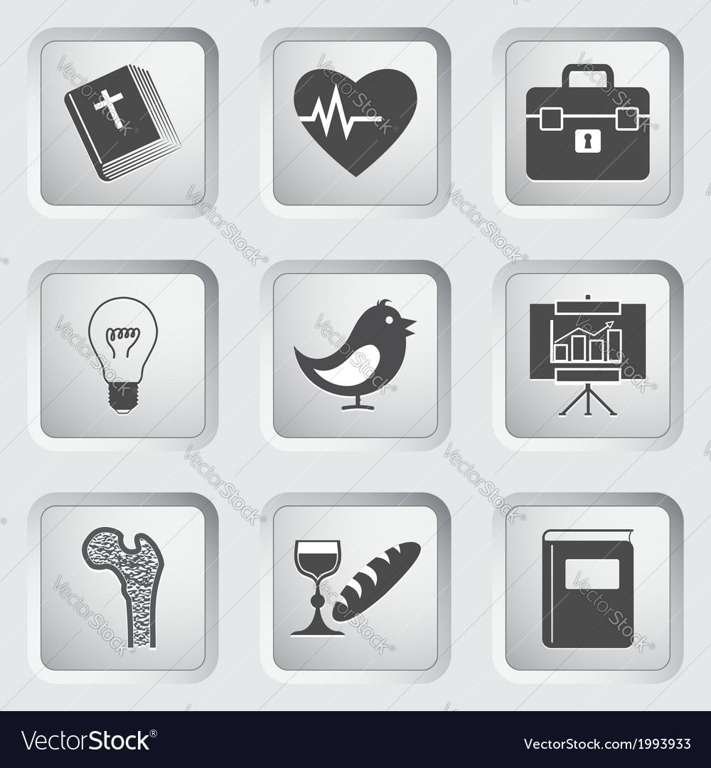 Icons on the buttons for web design set 2 vector | Price: 1 Credit (USD $1)