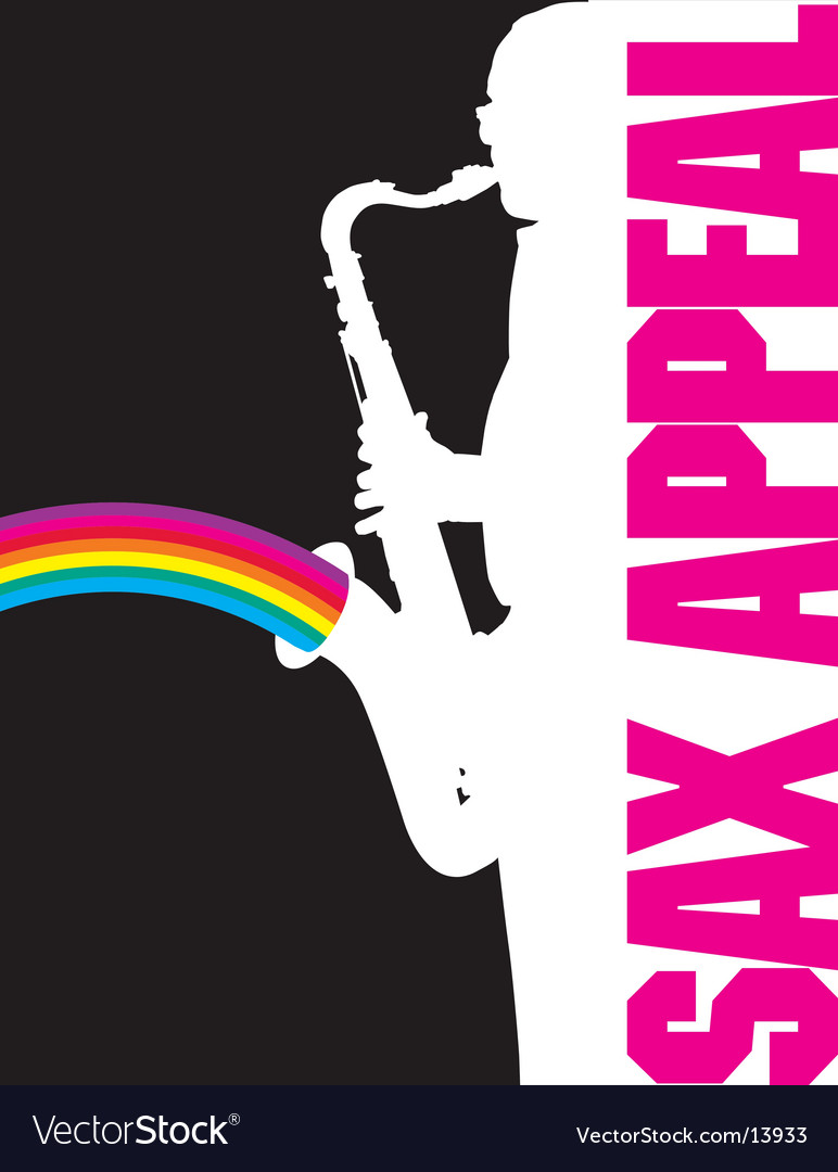 Sax-rainbow vector | Price: 1 Credit (USD $1)