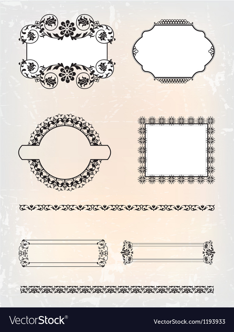 Set of abstract antique pattern vector | Price: 1 Credit (USD $1)