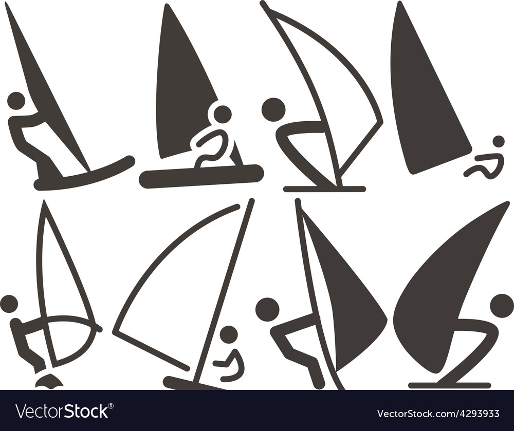 Set of sailing icons vector | Price: 1 Credit (USD $1)