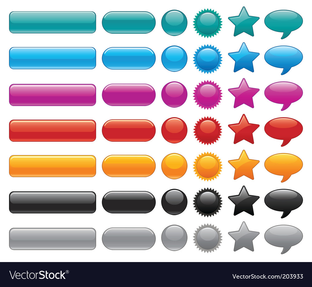 Website buttons vector | Price: 1 Credit (USD $1)