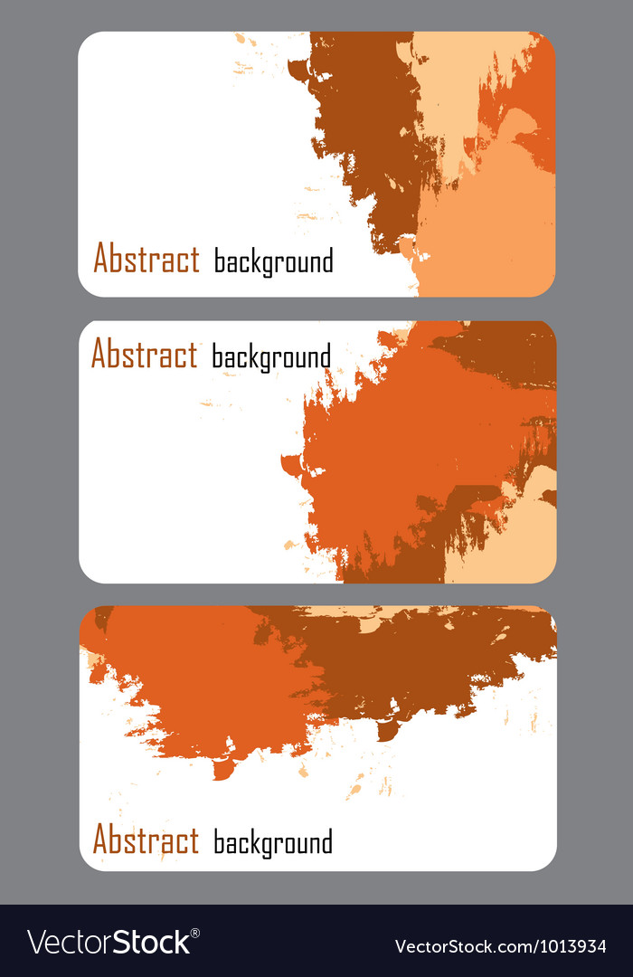 Business card templates with abstract background vector | Price: 1 Credit (USD $1)