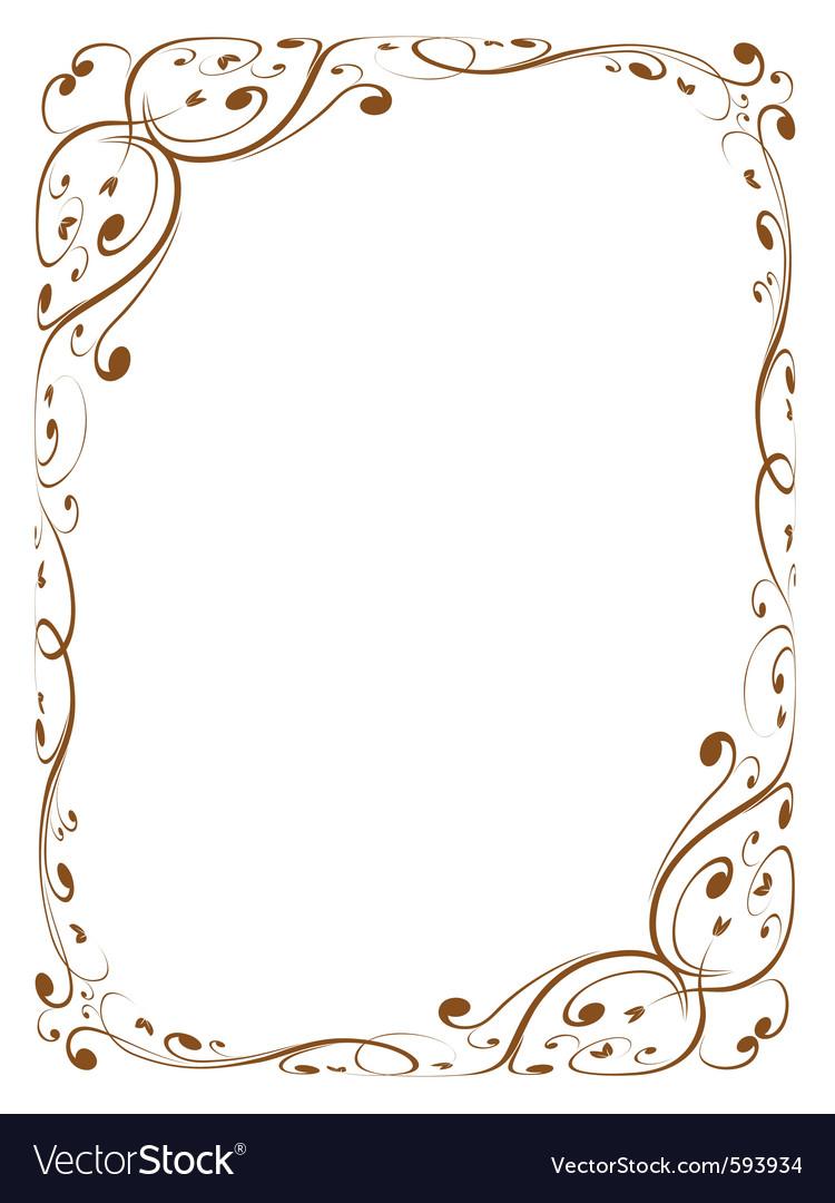 Calligraphy decorative frame vector | Price: 1 Credit (USD $1)