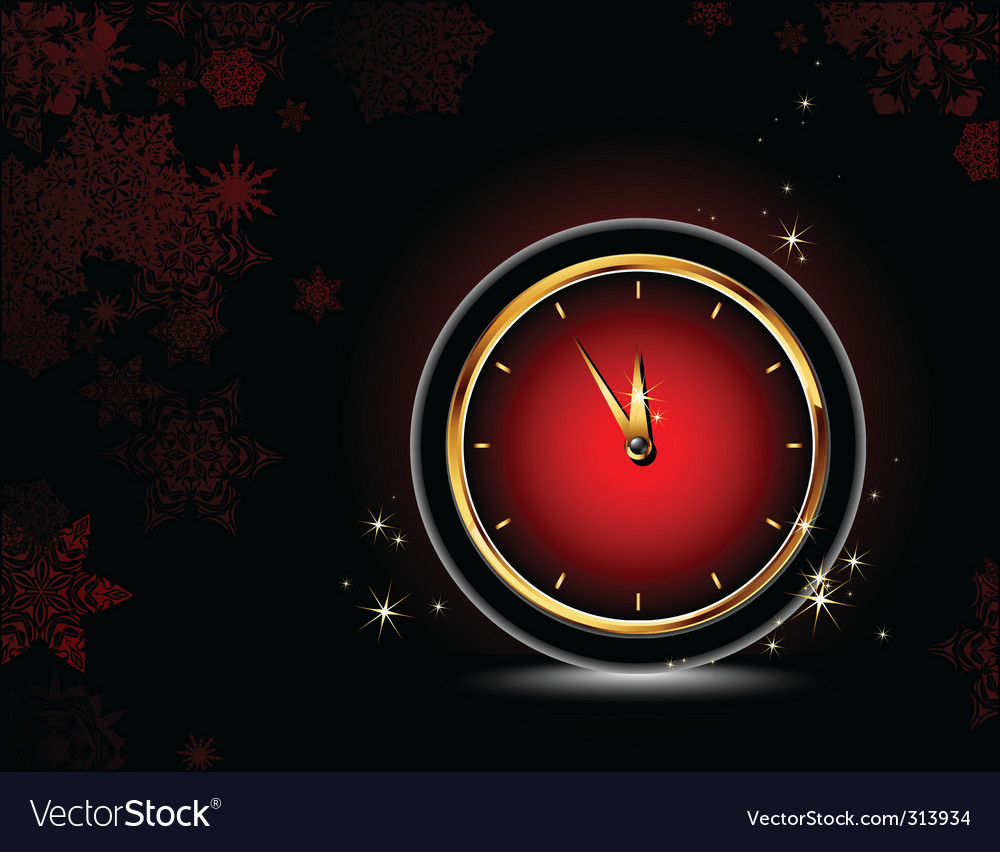 Clocks  christmas background vector | Price: 1 Credit (USD $1)
