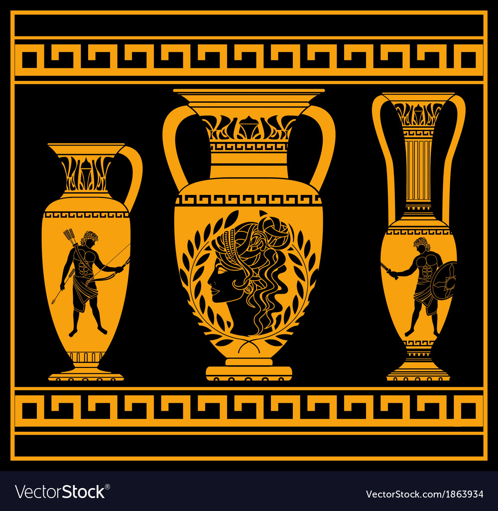 Hellenic jugs vector | Price: 1 Credit (USD $1)