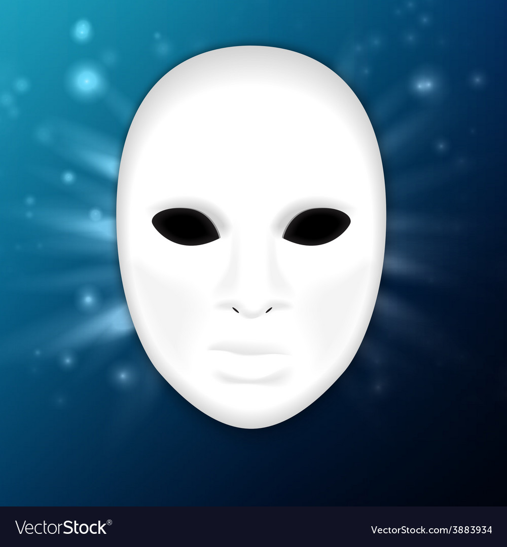 Llustration of realistic carnival or theater mask vector | Price: 1 Credit (USD $1)