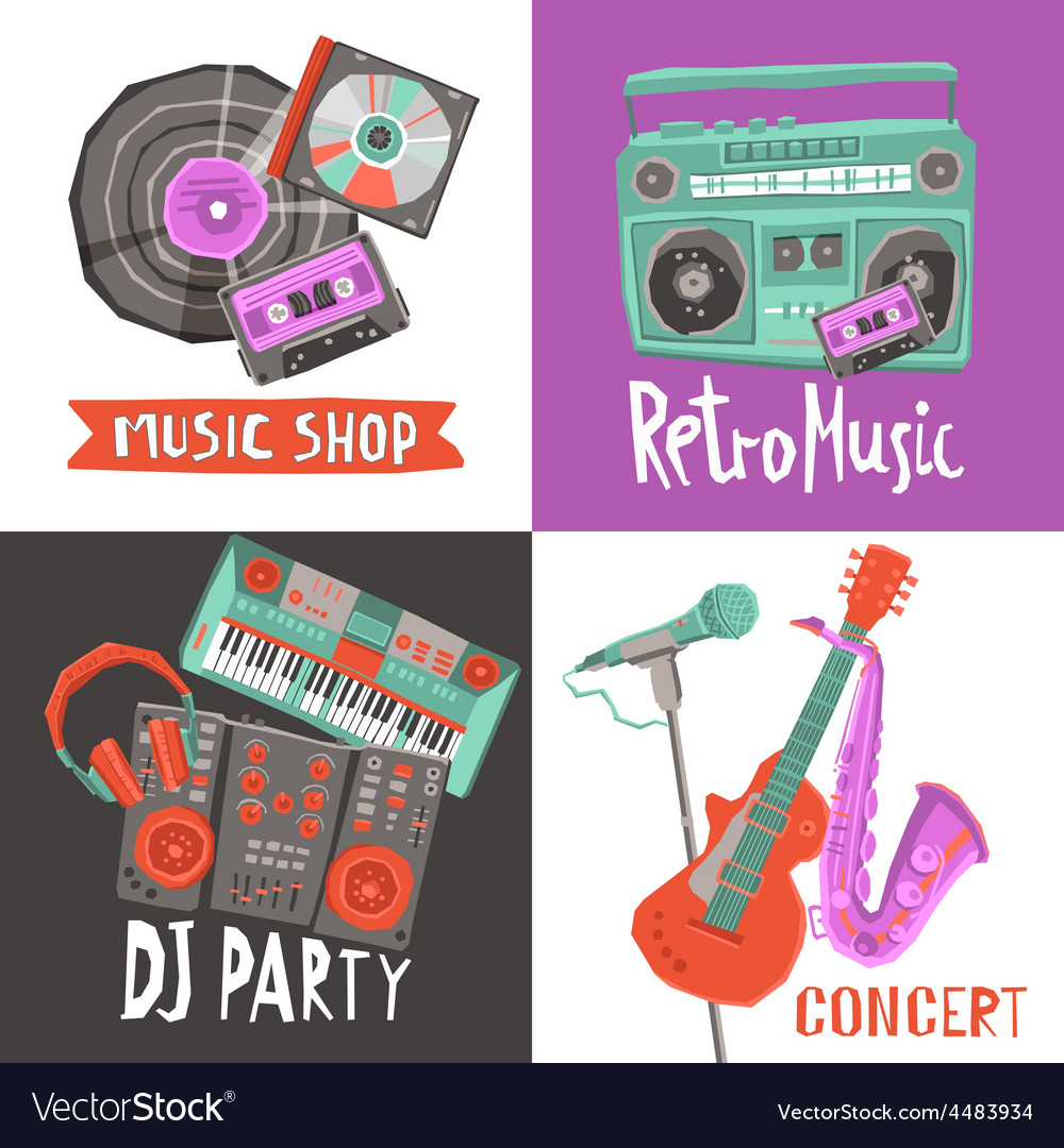Music design concept vector | Price: 1 Credit (USD $1)