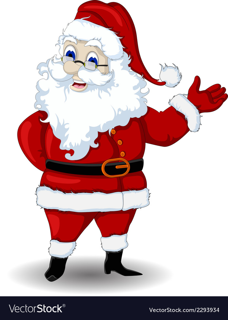 Santa claus cartoon for you design vector | Price: 1 Credit (USD $1)