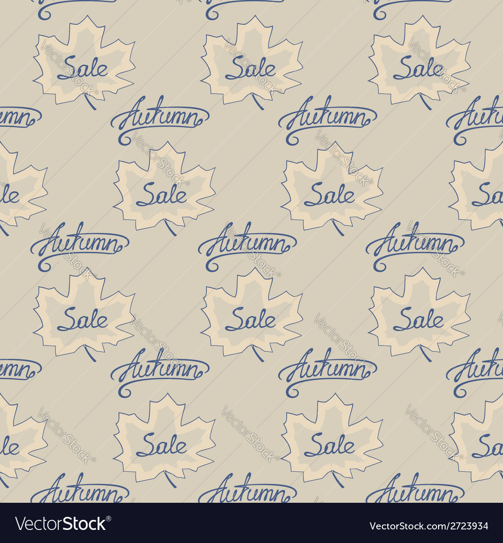 Seamless pattern of autumn sale vector | Price: 1 Credit (USD $1)