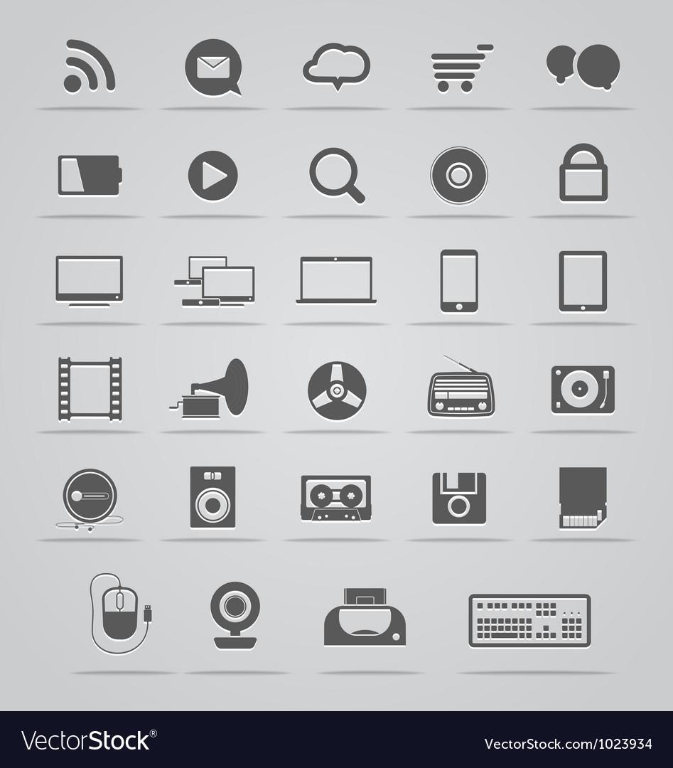 Social media icons vector | Price: 1 Credit (USD $1)