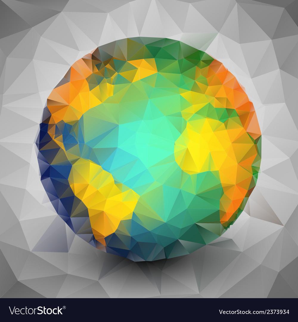 World globe triangle design vector | Price: 1 Credit (USD $1)