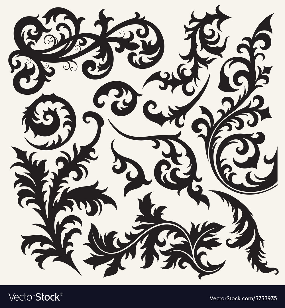 8floral line 19 2 vector | Price: 1 Credit (USD $1)