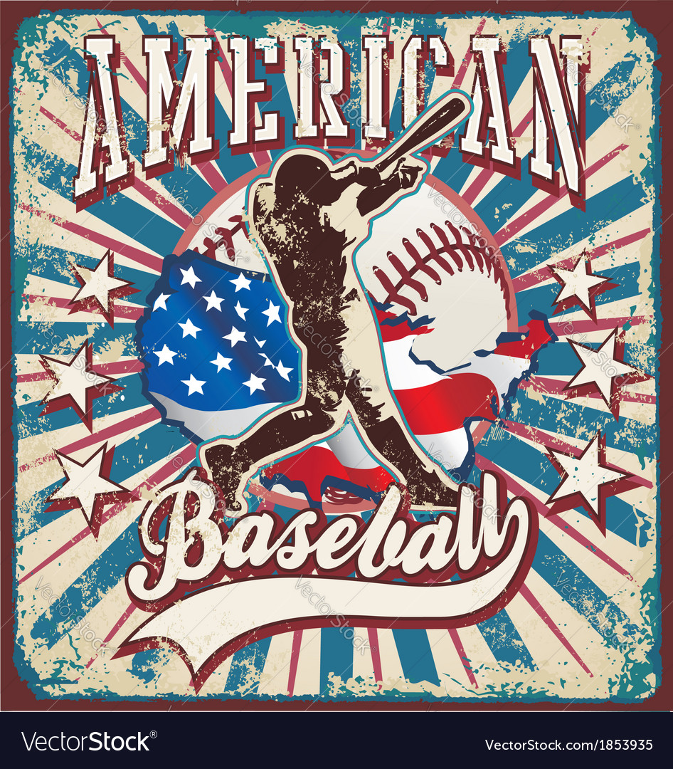 American baseball sport vector | Price: 3 Credit (USD $3)