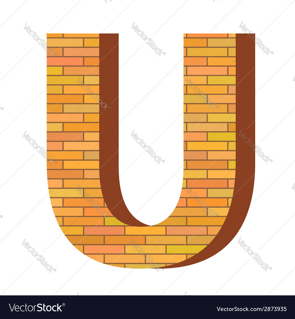 Brick letter u vector | Price: 1 Credit (USD $1)