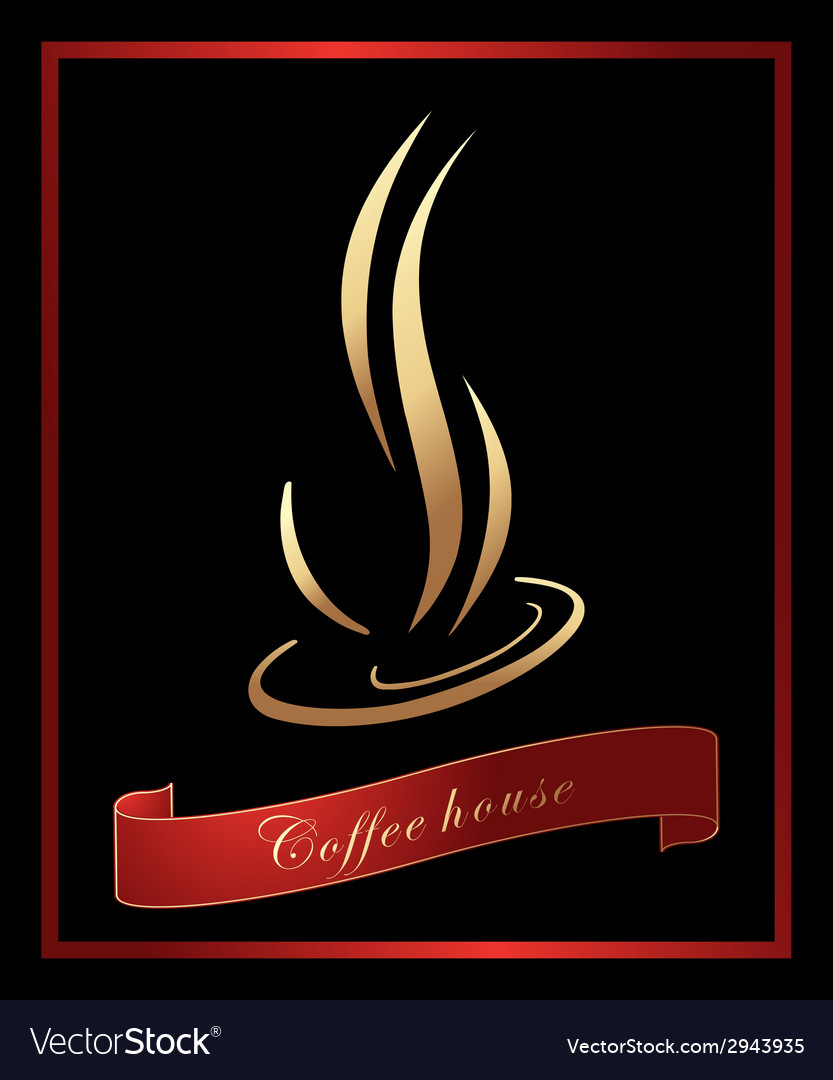 Coffee label background vector | Price: 1 Credit (USD $1)