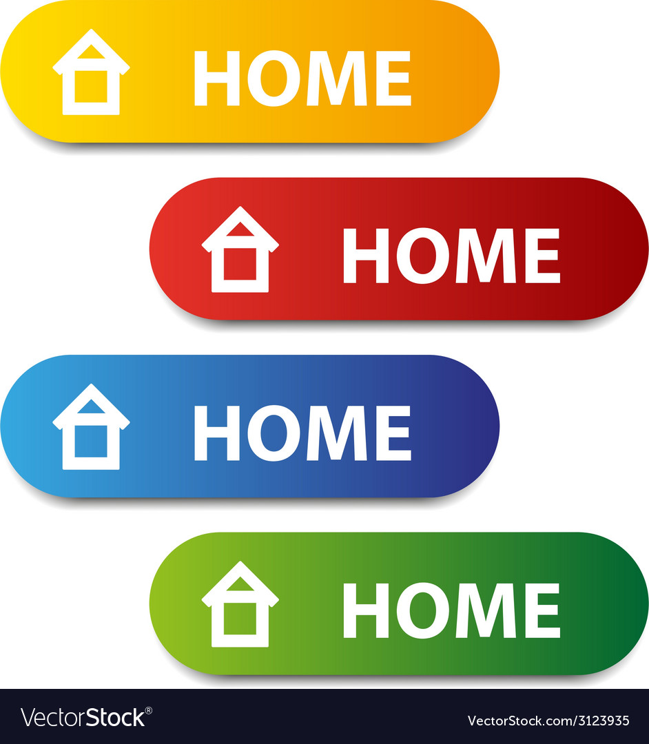 Color home buttons vector | Price: 1 Credit (USD $1)