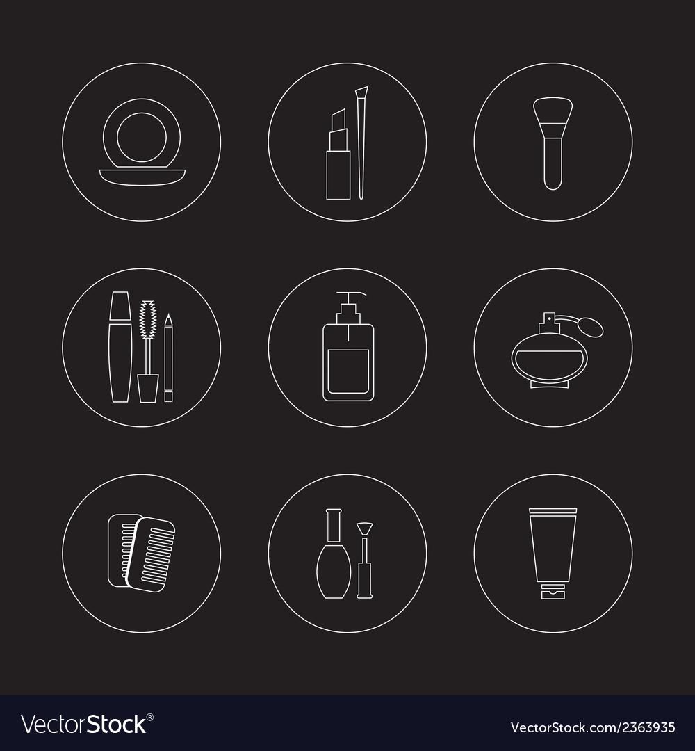 Cosmetics icons set vector | Price: 1 Credit (USD $1)